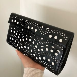 Alaïa Laser Cut Clutch
